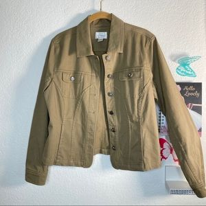 Christopher and Banks tan stretch jacket